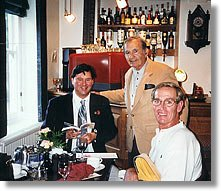 Peter West, Mike Starling and Ed Miller at Forbes Brasserie.