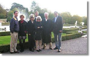 the Pokorney family in The Formal Gardens of Blenheim Palace