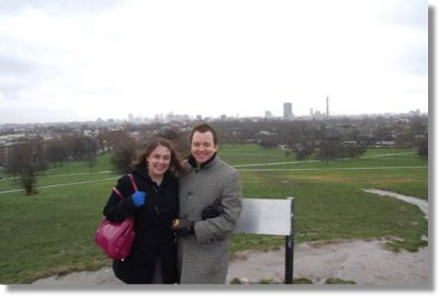The Fontana's at the top of Primrose Hill, overlooking London