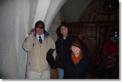 PW having fun with his clients at Warwick castle