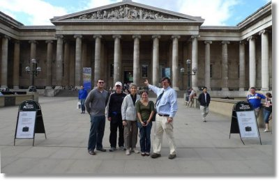 PW with the CH family from Florida at the British Museum